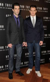 Zachary Quinto and Chris Pine at the photocall of