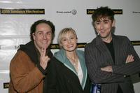 John Kassir, Kristen Bell and Alan Cumming at the premiere of