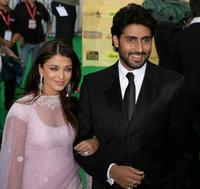 Aishwarya Rai and Abhishek Bachchan at the International Indian Film Academy Awards.