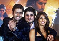 Abhishek Bachchan, Goldy Bhel and Priyanka Chopra at the music release of