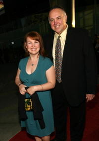 Audrey Wasilewski and Lyle Kanouse at the premiere of