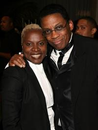 Angelique Kidjo and Herbie Hancock at the 39th NAACP Image Awards.