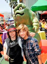 Leo Howard and Jimmy Bennett at the California premiere of