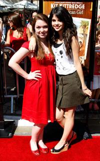 Jennifer Stone and Selena Gomez at the premiere of