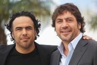 Director Alejandro Gonzalez Inarritu and Javier Bardem at the 63rd Annual Cannes Film Festival.