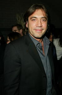 """Javier Bardem at the premiere of """"The Dancer Upstairs"""" in New York City."""