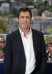 """Javier Bardem at a photocall for """"No Country for Old Men"""" in Cannes, France."""
