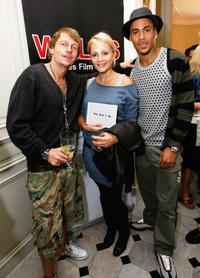 Leo Gregory, Beatrice Rosen and Michael Harvey at the Welsh Pavillion Party during the 61st International Cannes Film Festival.