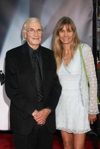 Martin Landau and Guest at the premiere of