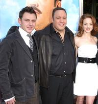 Keir O'Donnell, Kevin James and Jayma Mays at the premiere of
