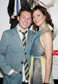 Keir O'Donnell and Melanie Hawkins at the premiere of
