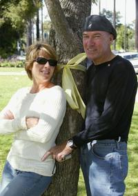 Ed Lauter and Guest at the Yellow Ribbon Sunday in Will Rogers Memorial Park.