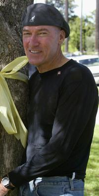 Ed Lauter at the Yellow Ribbon Sunday in Will Rogers Memorial Park.