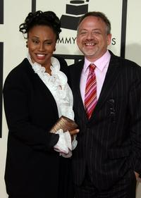 Jennifer Lewis and Marc Shaimen at the 50th Annual Grammy Awards.