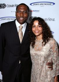 Elton Brand and Shahara at the 22nd Annual Cedars-Sinai Sports Spectacular.
