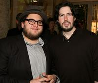Jonah Hill and Jason Reitman at the 8th Annual AFI Awards cocktail reception.