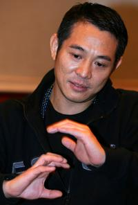 Jet Li at the news conference after the premiere of his movie