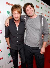 Joshua Leonard and Mark Duplass at the red carpet of