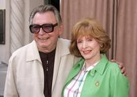 Patricia Barry and Dale Olson at the ceremony honoring the Hollywood Reporter with a special award of excellence star on the Walk of Fame.