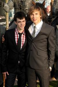 Skandar Keynes and William Moseley at the UK premiere of
