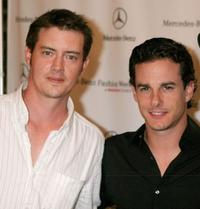 Jason London and Michael Cade at the Mercedes-Benz Fashion Week.