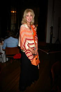 Joanna Lumley at the RIBA during the Pecha Kucha event to celebrate 60 years of the Institute of Comtemporary Arts.