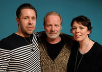 Writer/director Paddy Considine, Peter Mullan and Olivia Colman at the 2011 Sundance Film Festival in Utah.