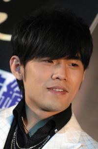 Jay Chou at the press conference for his latest album