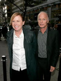 Amy Madigan at the cocktail party for