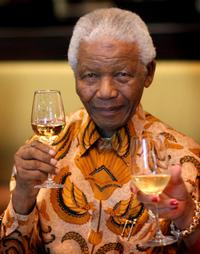 Nelson Mandela at the lunch to Benefit the Mandela Children's Foundation.