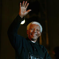 Nelson Mandela at the