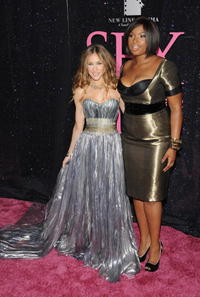 Sarah Jessica Parker and Jennifer Hudson at the premiere of