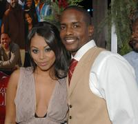 Lauren London and Keith Robinson at the premiere of