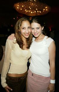 Christel Khalil and Lyndsy Fonseca at the LA.COM's launch party.