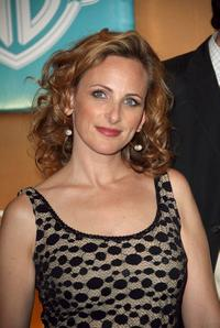 Marlee Matlin and guest arrive at the In Style Magazine and Warner Bros. Studios Golden Globe After Party.