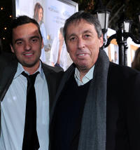 Jake Johnson and director/producer Ivan Reitman at the California premiere of