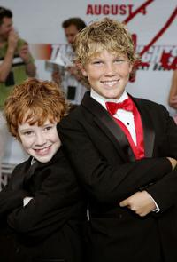 Grayson Russell and Houston Tumlin at the premiere of