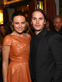 Malkin Akerman and Taylor Kitsch at the New York premiere of