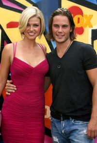 Adrianne Palicki and Taylor Kitsch at the 2007 Teen Choice Awards.