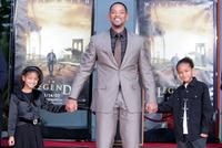 Willow Smith, Will Smith and Jaden Smith at the hand and footprint ceremony.