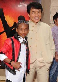 Jaden Smith and Jackie Chan at the Los Angeles premiere of