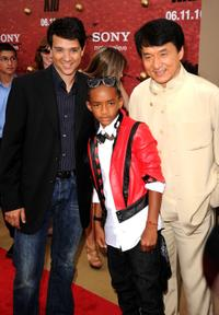 Ralph Macchio, Jaden Smith and Jackie Chan at the after party of the premiere of