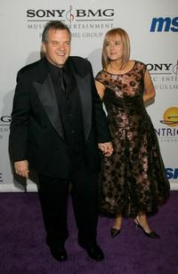 Meatloaf and wife Leslie G. Edmonds at the Legendary Clive Davis Pre-Grammy Party.