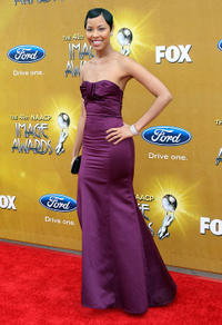 Tracey N. Heggins at the 41st NAACP Image awards in California.