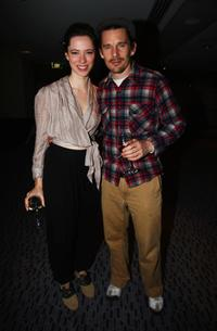 Rebecca Hall and Ethan Hawke at the Cherry Orchard after party.