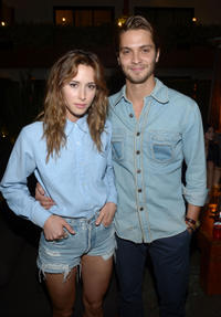 Gillian Zinser and Luke Grimes at the NYLON Magazine and Tommy Girl Annual May Young Hollywood Issue Party in California.