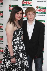Thomas Turgoose and Guest at the Jameson Empire Awards 2009.