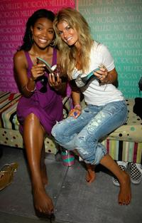 Gabrielle Union and Marisa Miller at the Sprint Style Villa during the Super Bowl XLI week.