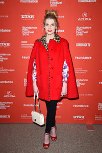 Lucy Boynton at the Utah premiere of