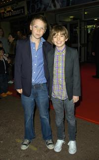 Bill Milner and Will Poulter at the premiere of